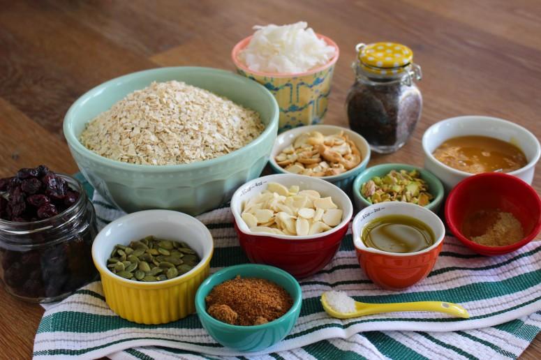 granola - mise en place