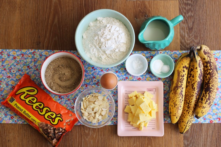 mise en place - banana bread